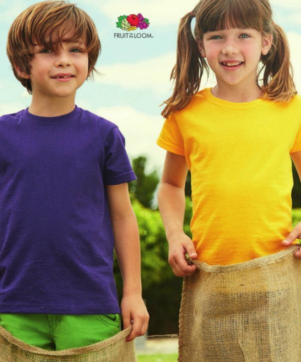 CAMISETAS FRUIT OF THE LOOM VALUE NIÑO K